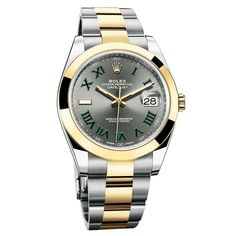 Rolex spirits of Wimbledon 41 mm. Roger Federer. Gold / Steel. Dark green numerals. 9.000 €.