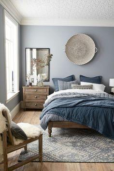 Trendige Farben: Fabelhafte Schlafzimmergestaltung In Grau Blau. Wohnideen  Schlafzimmer ...
