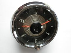 1955 Ford Stem Wind Clock -Serviced and Working with a 60 Day Guarantee + FREE SHipping!!!  - $89.88  #1955 #Ford #clock #Vintage #Classic #Collector #Car #Fairlane #Stem #Windup