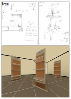 Ugg Australia. How we took an idea forward for a display tower from a sketch 362fb1532