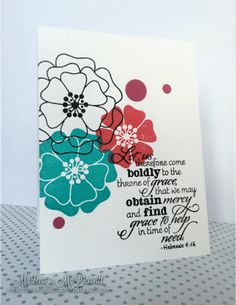 Handmade card by Marlena using the New Mercies and Great Friend stamp sets from Verve. #vervestamps