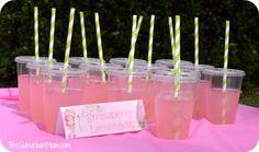 Strawberry Shortcake Birthday Party  - Strawberry Lemonade