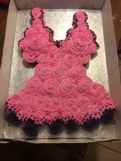 Lingerie shower cupcake cake