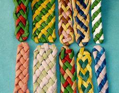 Плетение полосок из бумаги