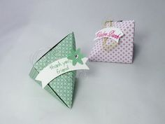 Anleitung Origami Verpackung , Goodie , Swap ,Stampin´ Up! Produkte - YouTube