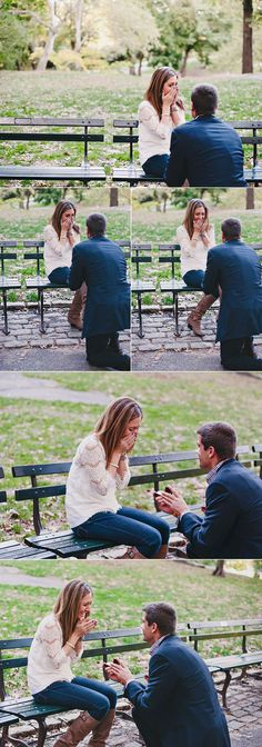 A surprise proposal in the park. Her reaction is priceless, I need photos like these!
