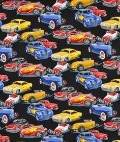 Alexander Henry Phils Drive-In Bright Fabric - $9.2 | onlinefabricstore.net