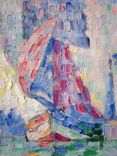 close up of Paul Signac painting
