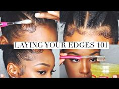 How To Slay Lay Your Edges Baby Hair Tutorial Update Youtube