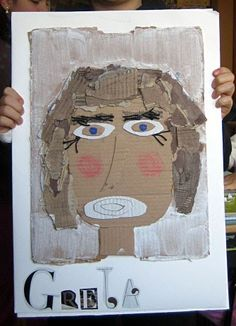 Cardboard self portraits