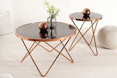 Stylish design side table PONT copper / black - Home Decor Ideas! Table Design, Decor, Furniture Design, Table, Side Table Design, Home And Living, Furniture, Table And Chairs, Coffee Table