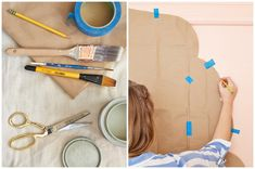 How to paint an interior door - practical tips and over 100 inspiring ideas The big trends in interior design have already been unveiled. On the program: the colorful entrance doors that are true decorative elements. Home Decor Painted Trays, Painted Doors, Honeycomb Tile, Motif Oriental, Basement Painting, Semi Gloss Paint, World Map Wallpaper, Yellow Doors, Entrance Doors