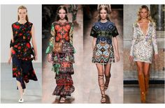 SPRING 15 – TRENDS - LUISA WORLD BLOG Floral Fashion, Emilio Pucci, Pattern Fashion, Marni, Flower Power, Catwalk, Stella Mccartney, Valentino, Cold Shoulder Dress