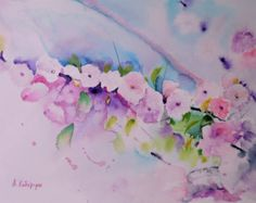 original watercolor painting 22x32 cm / 8,5x12,5