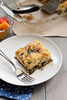 Caramelized Onions and Spinach Egg Casserole by Smells Like Home, via Flickr