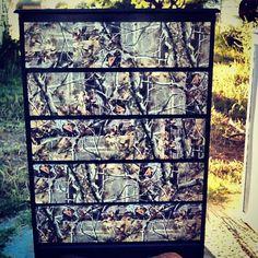 Upcycled dresser! #camo