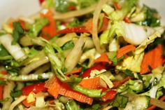 SPICY NAPA CABBAGE SALAD WITH CUMIN GINGER LIME DRESSING