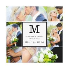 21 best wedding photo collages images on pinterest marriage wedding photo collage template with monogram canvas print maxwellsz