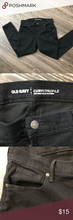 Old Navy Curvy skinny jeans Old Navy curvy skinny black jeans. Size: 16 Old Navy Jeans Skinny
