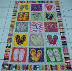 Catalina Flips.  One of several flip flop quilts I've made.