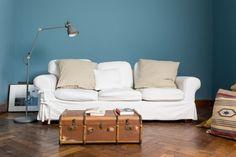 Favory 240   Kreide Emulsion   Kreidefarbe   Petrolstichige, Sehr Gräuliche Blau  Wand Und Möbelfarbe