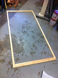 Start of your door with straight as possible pieces of wood for your frame.