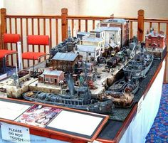 1/48 wartime harbour by Edgar Hodges