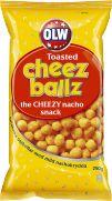 Olw, cheez ballz, ostbollar med nachosmak. Haha, de smakar faktiskt som smörpopcorn mixat med konsistensen av krispiga ostbågar! Fantastiskt gott! tyvärr med dextrose 3/5