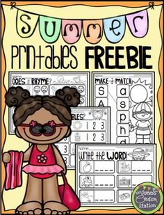 FREE! Summer Printables FreebieEnjoy these summer ELA printables for free!Includes:Does it Rhyme?Make-a-Match {Letters}How Many Syllables?Write the Word! {Blends}Graphics by ThistleGirl Designs, Pink Cat Studio and EduclipsCheck out my blog, Mrs. Jones Creation Station, for more ideas!