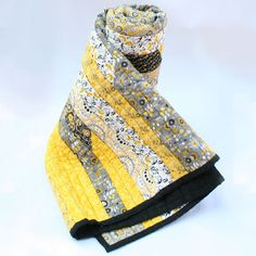 Yellow Grey and Black Quilt Throw by AbbysSewAwesome on Etsy