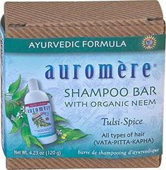 Auromere Shampoo Bar with Organic Neem Tulsi-Spice Grams) - Equivalent To 18 Oz. Of Liquid Shampoo In One Bar! Solid Shampoo, Baby Shampoo, Shampoo Bar, Biodegradable Packaging, Biodegradable Products, Herbal Extracts, Packing Light, Travel Light, Herbalism