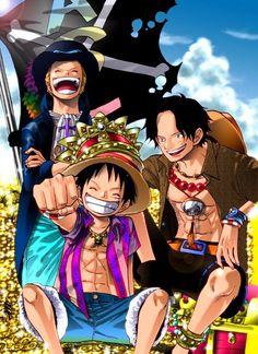 ASL -ace, sabo, luffy -one piece Anime One Piece, One Piece Luffy, Blade Runner, Image Hilarante, Fairy Tail, Manga Anime, Akuma No Mi, Mugiwara No Luffy, Ace Sabo Luffy