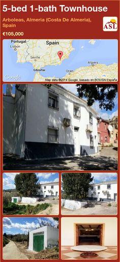 Townhouse for Sale in Arboleas, Almeria (Costa De Almeria), Spain with 5 bedrooms, 1 bathroom - A Spanish Life Fruit Trees, Dining Area, Townhouse, Spanish, Bathroom, Bed, Building, Life, Bath Room