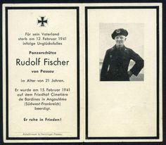 orig WK2 STERBEBILD - DEATH CARD - TK Panzer Schütze - Frankreich Angoulême 1941