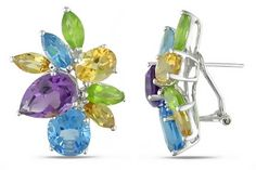 These multi-gemstone earrings are inspired by Gwyneth Paltrow's earrings she wore to the 2011 Oscars.