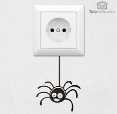 Vinilo decorativo ideal para interruptor de luz o enchufe. Wall Painting Decor, Diy Wall Art, House Painting, Wall Art Designs, Paint Designs, Wall Design, Wall Stickers, Wall Decals, Wall Drawing