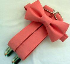 Parfait Pink Groomsmen Suspenders and Bow Tie Set. Groomsmen Suspenders, Suspenders For Boys, Bowtie And Suspenders, Wedding Suspenders, Pink Groomsmen, Groomsmen Accessories, Wedding Ideas To Make, Pink Bow Tie, Kids Bow Ties