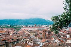 Mountains surrounding Lucca, Italy