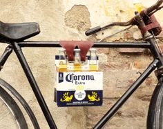 6 Pack Frame Cinch Leather Bike Beer Holder par WalnutStudiolo