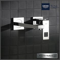 Baterie lavoar Grohe Eurocube ingropata in perete, pipa 231 mm Wall Mounted Basins, Basin Mixer, Mixers, Faucet, Door Handles, Wall Lights, Chrome, Shower, Interior Design