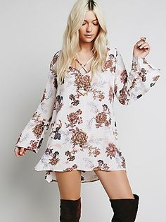 Heart Beat Printed Tunic // the perfect floral mini dress