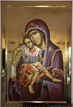 Madonna And Child, Orthodox Icons, Princess Zelda, Children, Artwork, Marvel, Fictional Characters, God, Virgin Mary