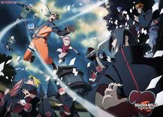 Naruto and the Akatsuki - Naruto Movie ( Road to Ninja ) Naruto Movie 6, Naruto Shippuden Movie 6, Manga Naruto, Gaara, Kakashi, Itachi Uchiha, Ninja Wallpaper, Full Hd Wallpaper, Naruto Wallpaper