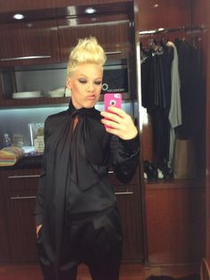 Twitter / Pink: That's me and my Givenchy last ...Luv her hair style !