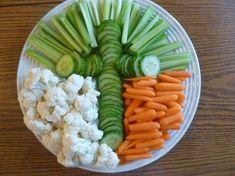 Easter vegetable platter