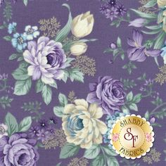 Twilight Garden 8873-58 by Henry Glass Fabrics: Twilight Garden is a romantic collection by Mary Jane Carey for Henry Glass Fabrics.Width: 43