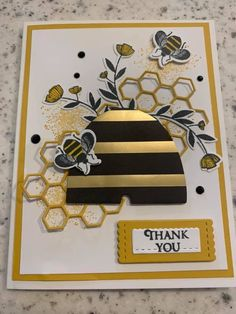 Butterfly Cards, Flower Cards, Golden Honey, Bee Cards, Hand Stamped Cards, Stamping Up Cards, Honey Bees, Animal Cards, Paper Cards