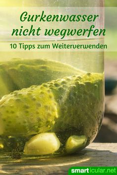 Do not pour cucumber water away: You can still do all of this with it! Birthday Gifts For Boyfriend Diy, Social Campaign, Cucumber Water, Food Waste, Diy Cleaning Products, Reduce Weight, Good To Know, Food Videos, Gardening Tips