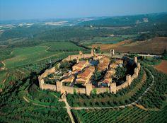 Castle Monteriggioni (founded in 1214), Siena, Toscana, Italia