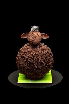 'The Chocolate Sheep' by French chocolatier and artist Patrick Roger. via the chocolatier's site